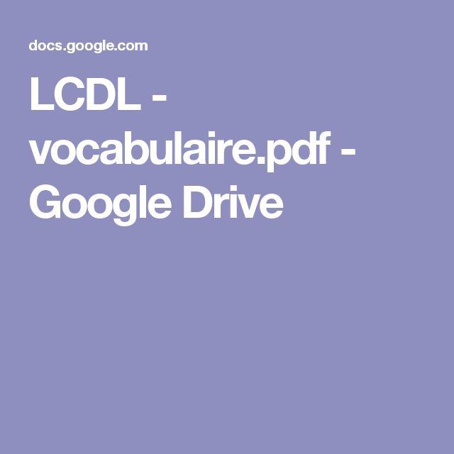 LCDL - vocabulaire.pdf - GoogleDrive