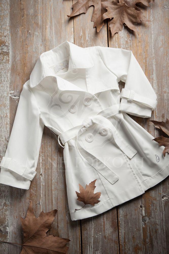 Βαπτιστικά ρούχα για κορίτσι της Angel Wings#trench coat