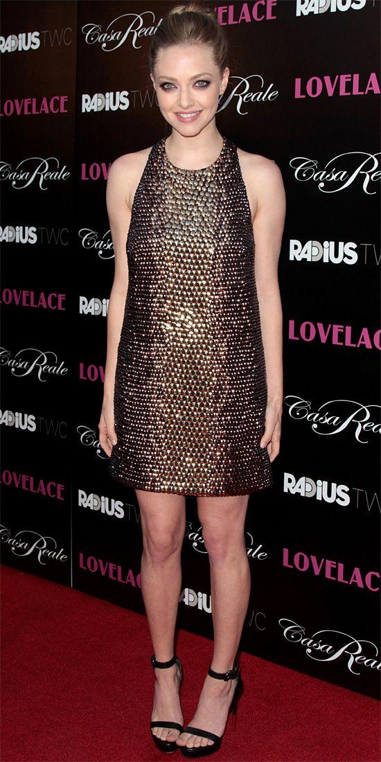 Amanda Seyfried in one-of-a-kind Gucci @ Lovelace premiere.