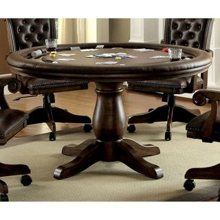 Furniture of America Custard Traditional Interchangeable Brown Round Game Table | Overstock.com Shopping - The Best Deals on Casino & Poker Tables