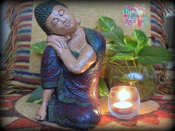 Buda de los sueños femenino violeta 24x16 cm