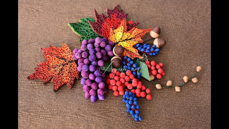 Quilling Tutorial - Fall Fruits (Fall Wreath - part 5 of 6)