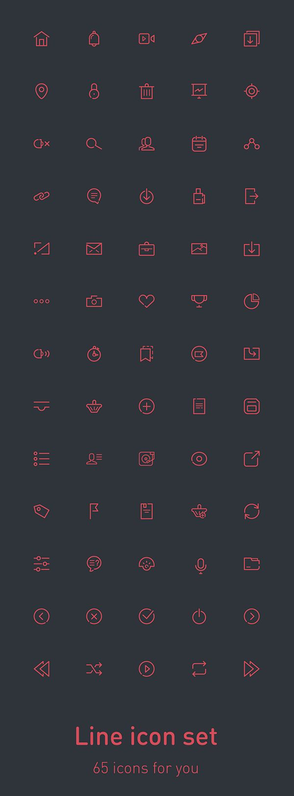 65 free icons on Behance
