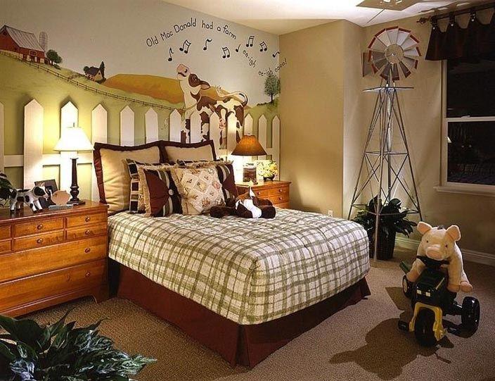Boys farm bedroom ...