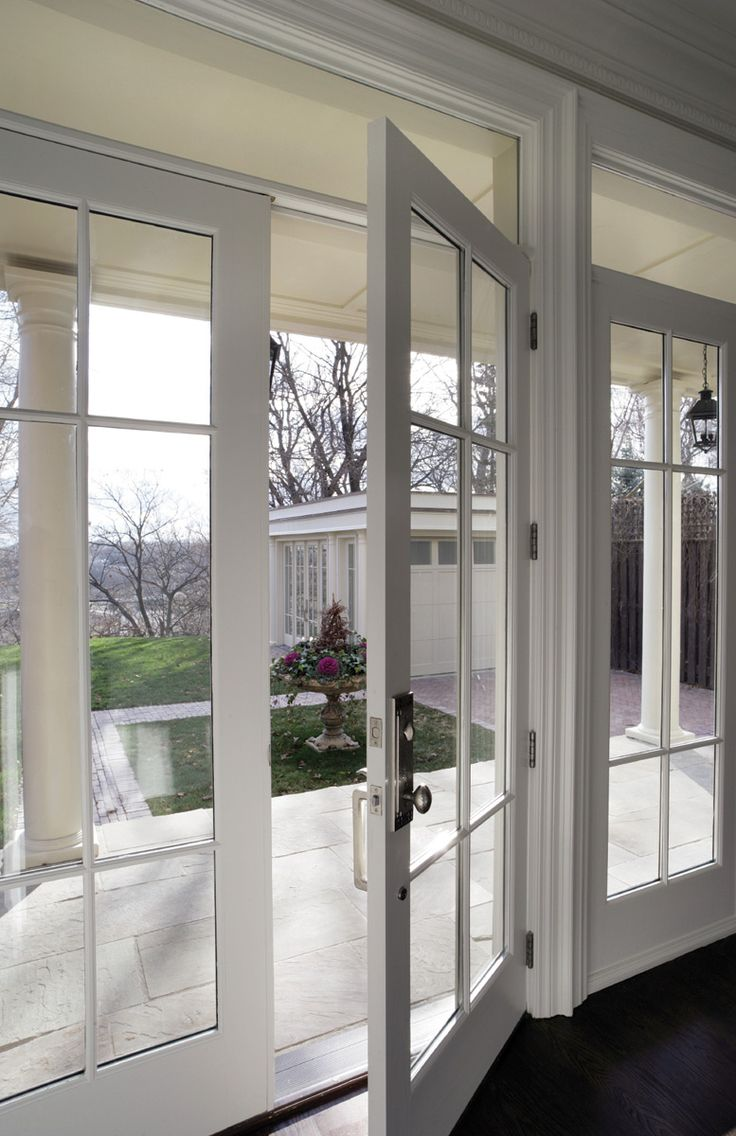 Light from window above french doors patio design for Large french windows