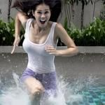 People Running and Dancing on a 2,100-Gallon Pool of Cornstarch and Water