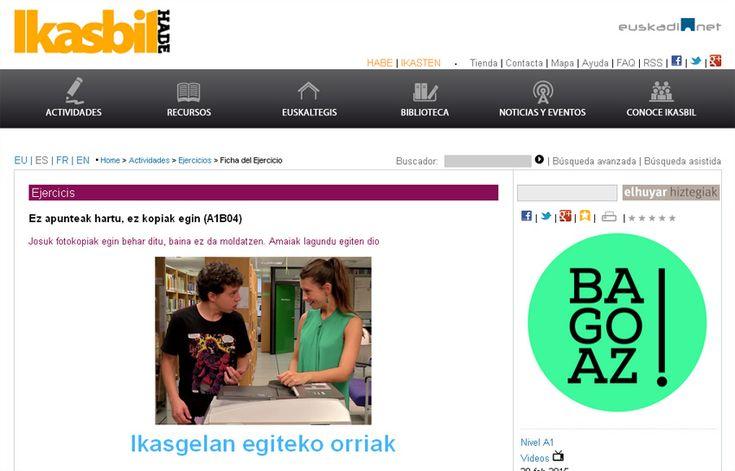 HABE ofrece en internet -gratis- una nueva serie de ejercicios para estudiantes de euskera recién iniciados http://www.euskalkultura.com/espanol/noticias/habe-ofrece-en-internet-gratis-una-nueva-serie-de-ejercicios-para-estudiantes-de-euskera-recien-iniciados
