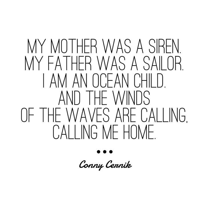 Conny Cernik poetry quotes siren mermaid