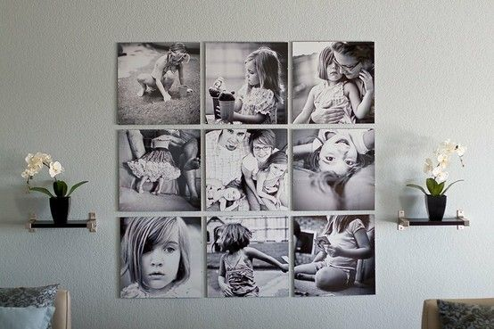 wall display: Wall Art, Display Photos, Families Pictures, Black And White, Photos Collage, Photos Wall, Photos Display, Families Photos, Wall Display