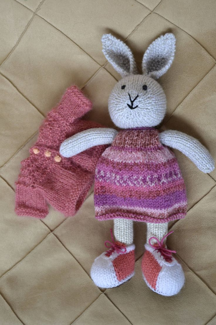 881 best knitting bunnies images on pinterest little cotton bunny girl soft bunny toy bunny doll bunny toy knit bunny bankloansurffo Choice Image