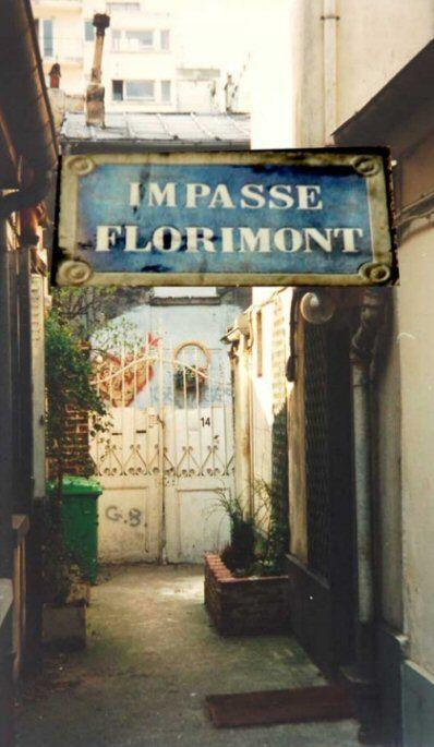 L'impasse Florimont, chez Georges Brassens...  (Paris 14ème)