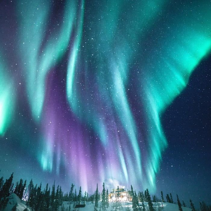 Northern Lights Seen From Yellowknife Northwest Territories Canada Northern Lights Photography Northern Lights Northen Lights