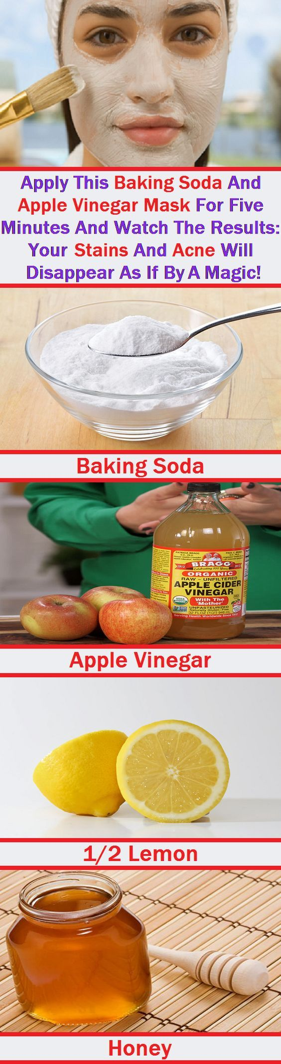 ACV baking soda facial mask