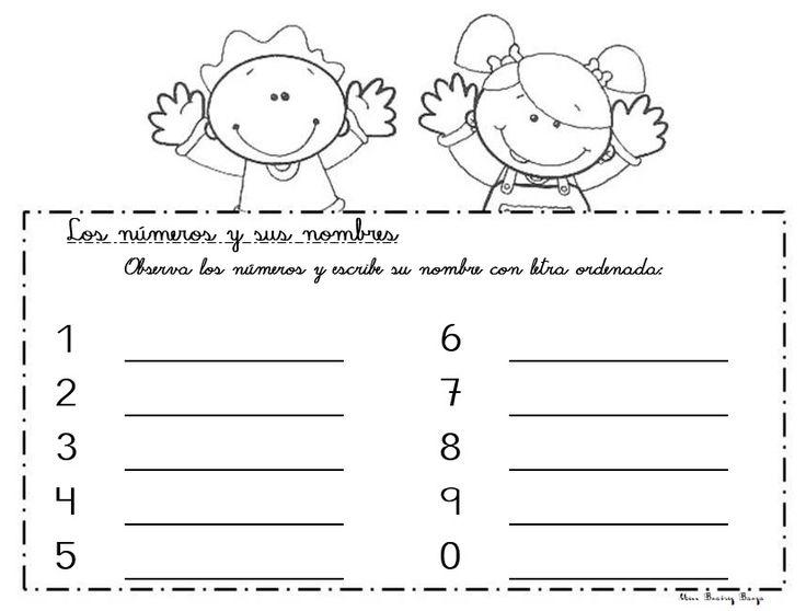 Matemática Primaria. Escritura de números. Del 0 al 9. Los dígitos. Preescolar.