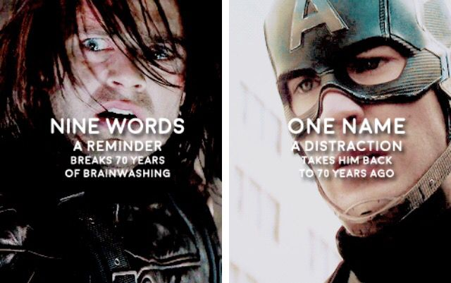 There's also nine words that brainwash Bucky... Just putting that out there.