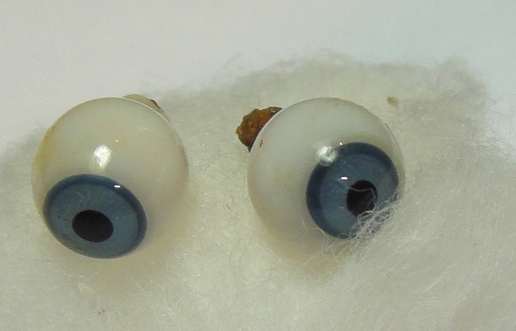 ~oddities~ Mini Glass Eye Balls Cobalt Blue 1800's antique