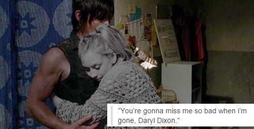 — Ты будешь по мне очень сильно скучать, когда я уйду, Дэрил Диксон.