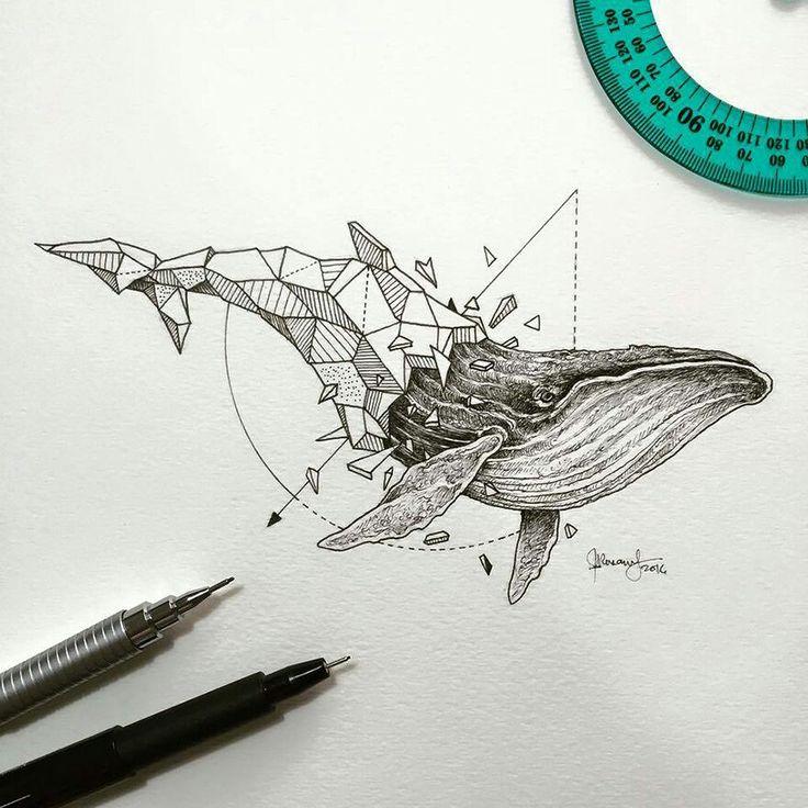 Lovely Half-Geometrical Drawings of Wild Animals www.fubiz.net/en/2016/02/25/lovely-half-geometrical-drawings-of-wild-animals/