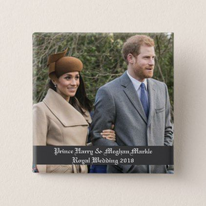 #Prince Harry & Meghan Markle Royal Wedding 2018 Button - #wedding gifts #marriage love couples