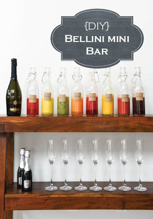Throw your greatest party yet with this DIY Bellini Mini Bar!