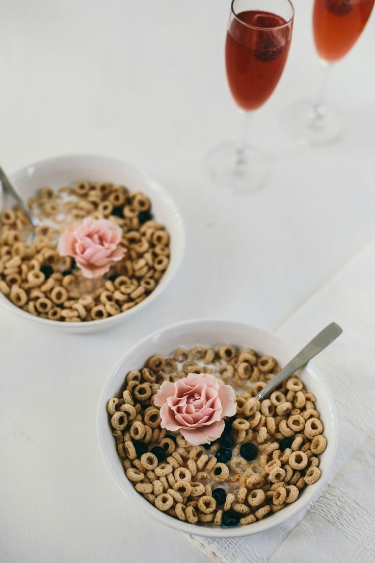 Add a fresh flower and a glass of wine for a romantic bowl of cereal. Inspired by the movie Burnt in theaters October 30!