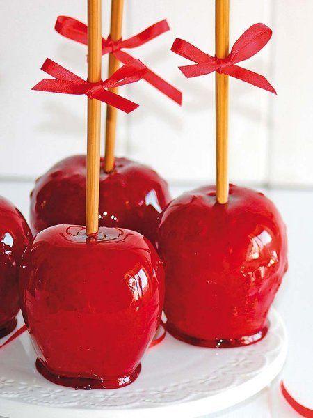 Manzanas de feria con caramelo