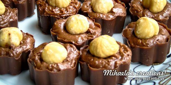Συνταγή για σπιτικά σοκολατάκια με φουντούκι!