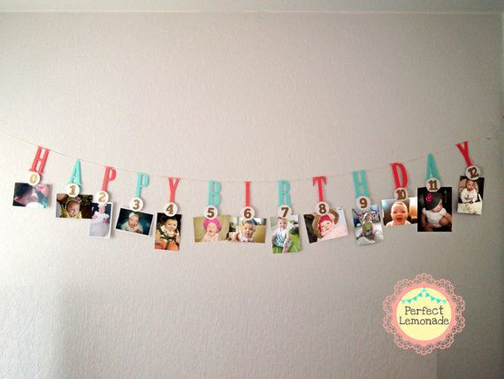 Milestone  Photo Banner 1 st Birthday Decoration