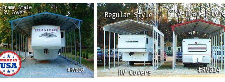 Camper Carports Built by Coast to Coast Carports