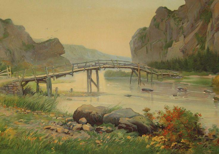 Florimond van Acker - L'Ardenne. Site dans la vallée de L'Ourthe