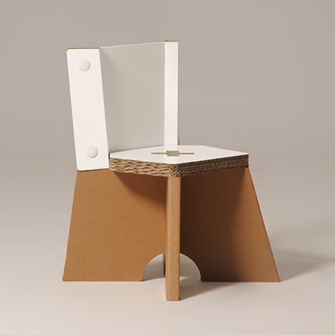 #Juliet - #baby #cardboard #chair - The pretty snap-fit seat is hard-wearing and easy to carry, with a comfortable seating which let your child move totally safe. - #children - http://eco-and-you.com/en/shop/juliet/