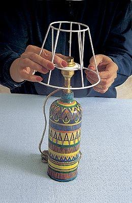 Каркас своими руками для абажура для настольной лампы