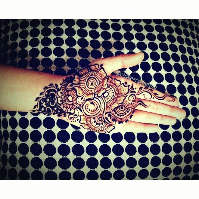 Henna  Mehendi Almost full hand Intricate