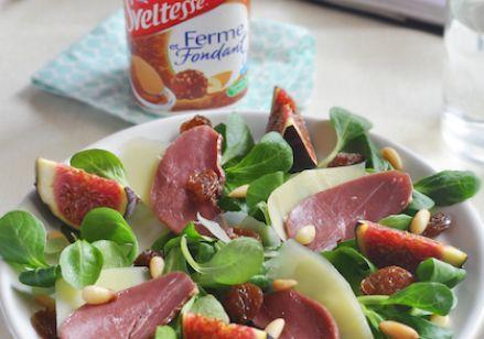 Menu : salade périgourdine + Sveltesse Saveur praliné façon Rocher | Recette Menu : salade périgourdine + Sveltesse Saveur praliné façon Rocher - Envie de bien manger