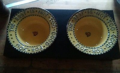 Williamsburg Pottery Dbl. The Best is Not to Good For You Dog food Bowls w/Stand