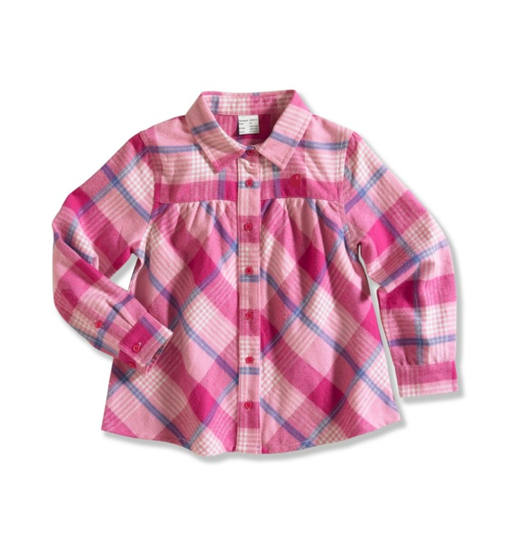 Carhartt - Product - Infant/Toddler Girl's Cozy Flannel Plaid Shirt
