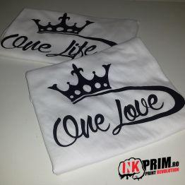 Set Tricouri Personalizate, One Life & One Love