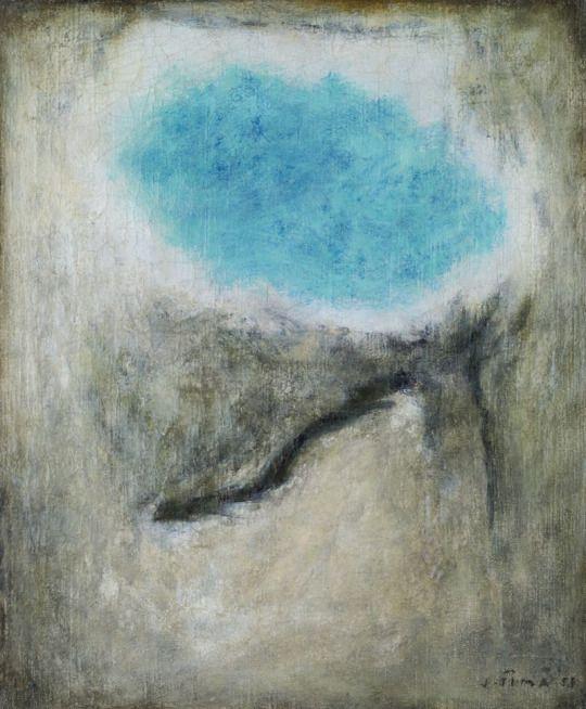 Josef Šíma (Czech, 1891-1971), Corps d' azur en forme de ciel, 1958.