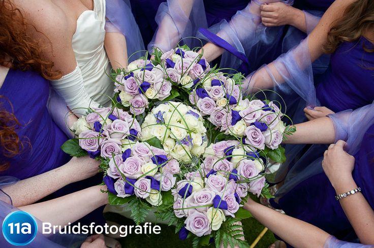 Bruidsboeket + bruidsmeisjes-boeketten | Portfolio Bruidsreportage | 11A Bruidsfotografie | Den Bosch
