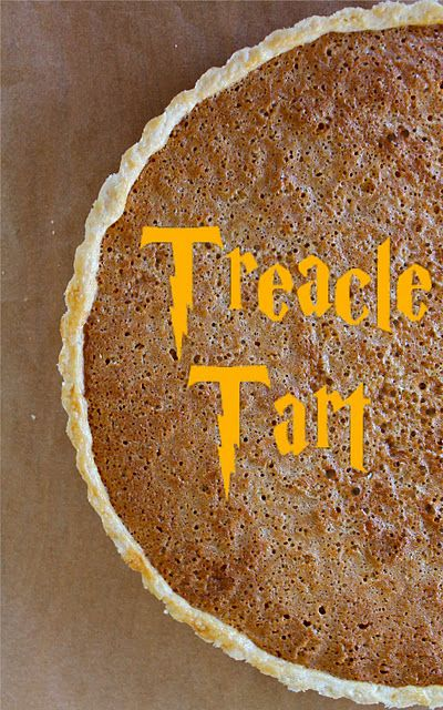 treacle tart - Harry Potter's favorite dessert---a delightful tart made with a golden syrup.