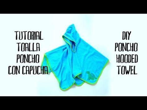 Tutoriales de manualidades. El Rincon de Fri-Fri.: Cómo hacer una toalla para niño tipo poncho con capucha
