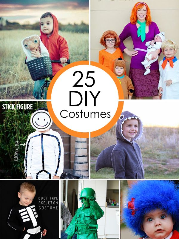 25 DIY Halloween Costumes that will make you happy. #howdoesshe #kidcostumes howdoesshe.com