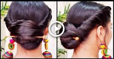 Quick Indian Bun Hairstyle for navratri// Party Hairstyles for medium/long hair// Indian hairstyles #hairstyles