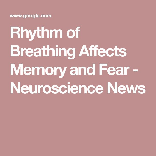 Rhythm of Breathing Affects Memory and Fear - Neuroscience News