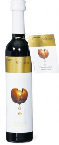 Migros Sélection Haselnussöl #packaging #bottle #oil #hazelnut