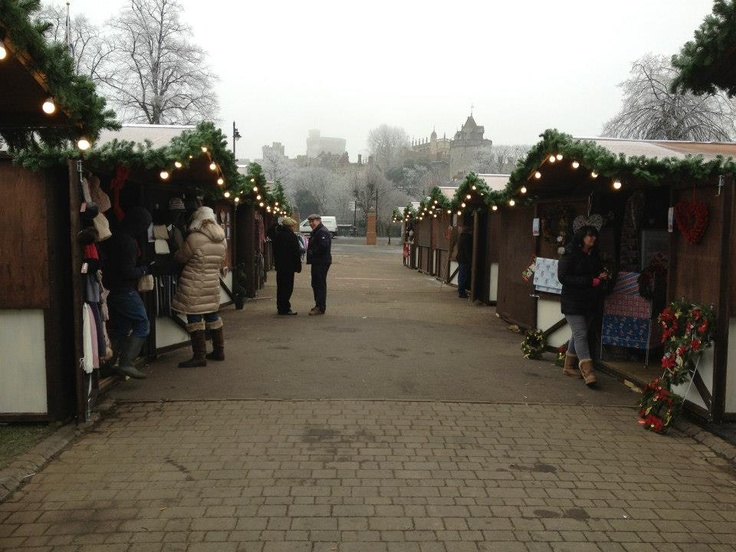 One frosty morning at Windsor ice rink's Christmas market ... brrrrr!