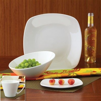 Guiding The Brides Metro White Dinnerware Set