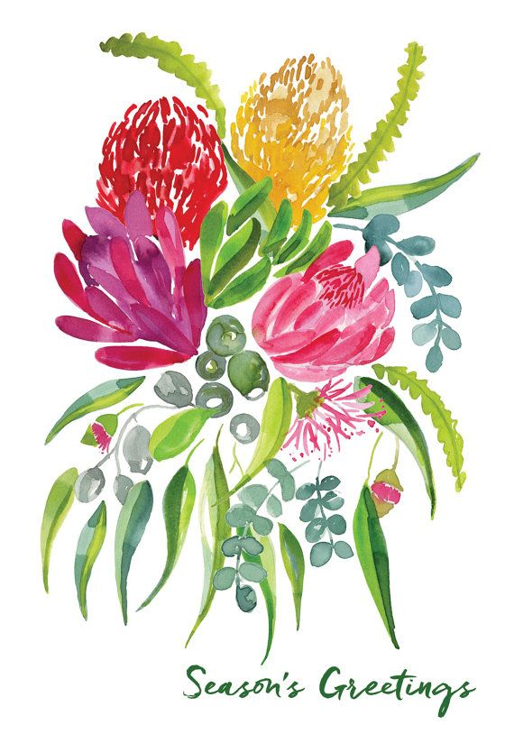Season's greetings  Australian Natives  A6 by MailedWithLoveAus