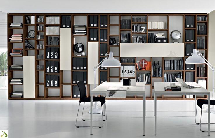 Libreria moderna in legno Booki | Arredo Design Online