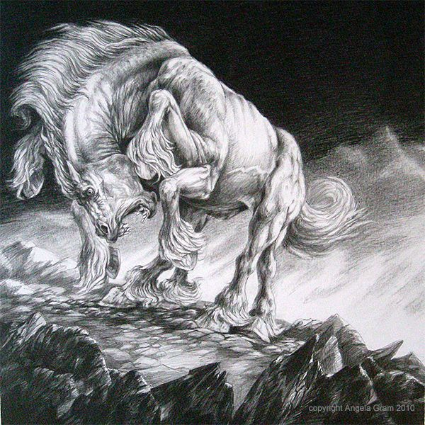 The best famous horse in Norse mythology is Sleipnir, The son of Loki. After Loki gave birth to him, he made Sleipnir a gift to Odin. Sleipnir has 8 legs& according to Snorri he's grey in color.